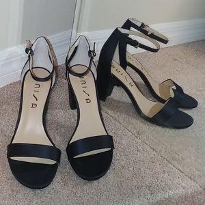 UNISA Daeicy sparkly satin heels
